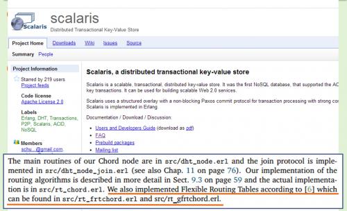 ScalarisのWebサイト