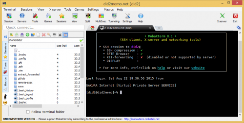 mobaxterm-ssh-session-opend-sample