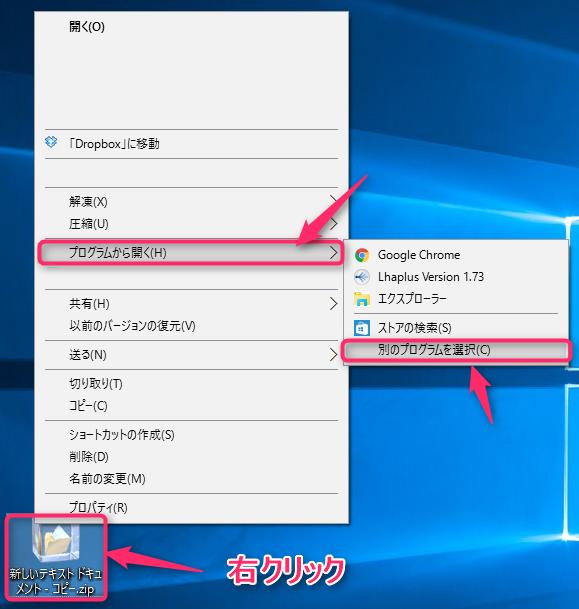 windows-password-zip-open-select-program