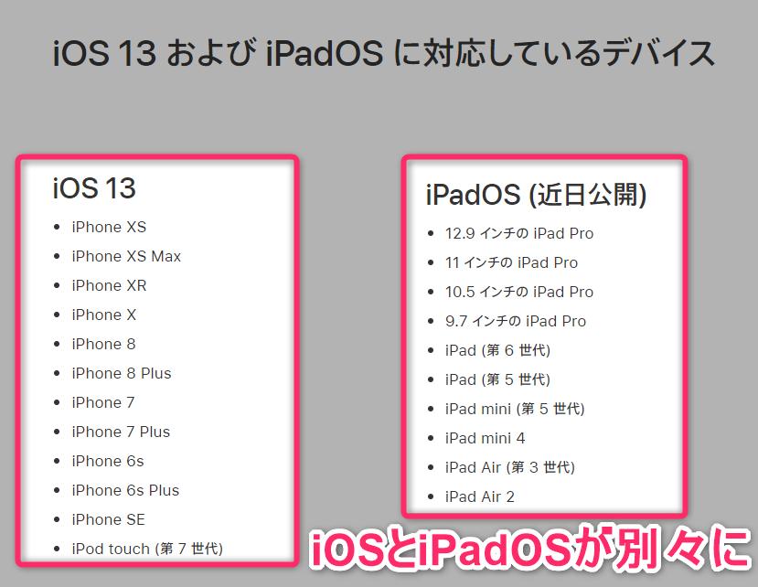 iphone アップデート 13